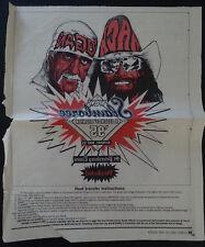 Rare 1995 WCW Hulk Hogan Vs Randy Savage Slamboree Legends Reunion Heat Transfer