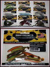 Spro Komodo Shad 6cm Made in USA 10er Pack für Texas Rig Drop Shot Barsch Zander