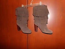 Jeffrey Campbell's Ibiza Women's Brown Fringe Short Boots Size 7