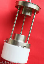 BAUHAUS DECKENLEUCHTE Lampe Design Pendelstange Länge 34 cm silber matt Opalglas