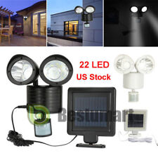 22-LED Solar Powered Motion Sensor PIR Security Light Garden Garage Outdoor Lamp