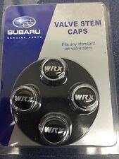 Subaru WRX Tire Valve Stem Caps Set Forester Impreza Legacy Outback STi Genuine