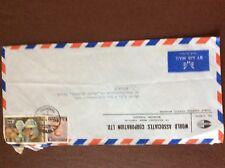 b1u ephemera stamped franked envelope airmail world associates thailand