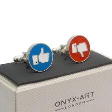 Cufflinks Like / Dislike Thumbs up / Thumbs Down In Smart Box CK849
