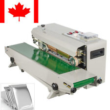 Auto Horizontal Continuous Plastic Bag Band Sealing Sealer Canada Ship