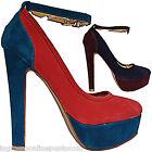 Scarpe donna decoltè decolletè tacchi alti plateau cinturini caviglia N 2106 (3)