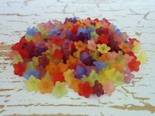 200 pcs Colourful Mix Lucite Flower Acrylic Beads 10mm x 4mm