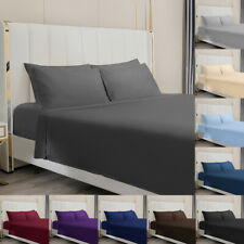 4 Piece Bed Sheet Set 1800 Count Egyptian Bed Sheet Deep Pocket Full Queen King