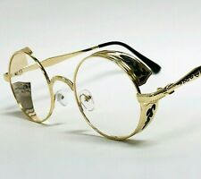 Men's Clear Lens Glasses Gold Frame Rap Hip Hop Elegant Eye Glasses Sunglasses