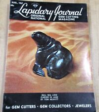 Lapidary Journal Gem Cutting Aug 67 Sea Lion in Jade diamond cutting Slabbing