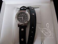 Original Swarovski Octea Mini Negro Reloj 999967 Doble Correa Baile de Graduación Regalo RRP £ 249