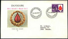 Denmark 1974 Blood Donors Campaign FDC First Day Cover #C40858