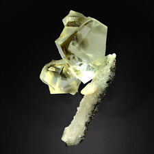 Yellow Calcite with Stilibte , Aurangabad, India # TUC103