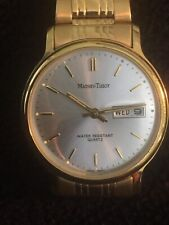 mathey tissot W/r Quartz Unisex Watch Beautiful Gold Tone With Day And Date,s/sB