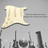 Prewired Loaded SSS Pickguard for Fender Strat Stratocaster Electric Guitar New
