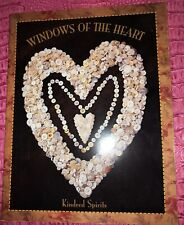PRIMITIVE FOLK ART NEEDLECRAFT QUILT BOOK, WINDOW OF THE HEART, KINDRED SPIRITS