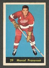 1960-61 MARCEL PRONOVOST #29 Parkhurst * Wings HALL OF FAME Star NHL Hockey Card