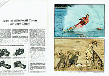 PUBLICITE ADVERTISING 036  1980  Canon (2p) ski nautique appareil photo téléobje