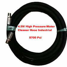 4.5M Long - High Pressure Water Hose. Commercial Grade 8700 Psi