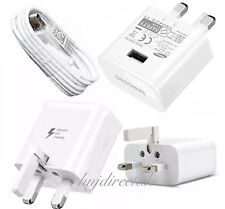 Genuine Fast Charger Plug Samsung Galaxy S4/5 S6 S7 Edge + Fast Charge Usb Cable