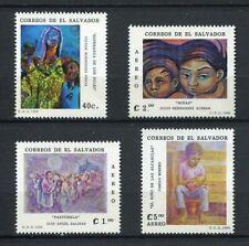 27329) EL SALVADOR 1988 MNH** Nuovi** Paintings 4v