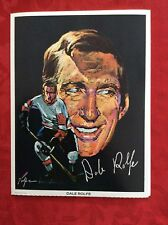 Dale Rolfe 1971 Detroit Red Wings Nicholas Volpe Hockey Portrait Print