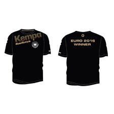Kempa Dhb Winner Tee Badboys Balonmano Campeón de Europa Camiseta Negra