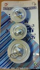 Disipador De Enchufes De 3 X Universal Baño Cocina De Tope De Goma cuenca Baño Bañera