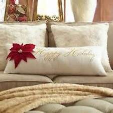 PIER 1 IMPORTS HAPPY HOLIDAYS THROW PILLOW EXTRA LONG 25X13 NWT More P1 items!