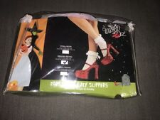 Wizard of Oz, Dorothy's Ruby Slippers Red Heels Women's Rubie's M 7-8 Platform