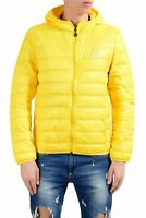 Emporio Armani EA7 Men's Yellow Duck Down Full Zip Hooded Light Parka Jacket