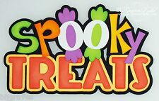 CraftEcafe Premade Paper Piece Die Cut Scrapbook Halloween Title BLJgraves 148
