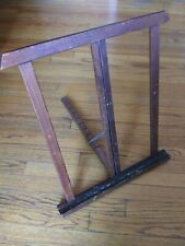 AWESOME Old Vintage Wood ARTIST TABLE EASEL DISPLAY STAND PAINTERS PAINT Folds