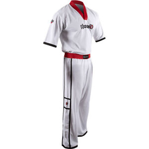 Hayabusa Winged Strike Youth Karate Uniform - White - kimono gi taekwondo