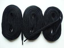 3 paia lacci spessi piatto 105 cm nero-per Scarpa Da Ginnastica in Tela Scarpe Da Skate Boot.