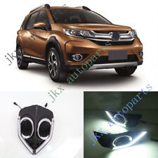 2x White LED Daytime Running Lamp Fog Lamp Cover For Honda BR-V BRV 2012-16 k