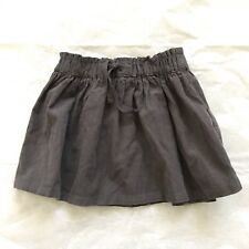 Zara Kids Baby Girl Gray Corduroy Mini Skirt 12-18 Months Cotton Elastic Waist