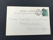 Postal History GB KEVII Beccles 59 Cancel on 1902 Postcard