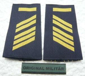 Rangabzeichen Marine Oberstabsgefreiter MA  gold/blau Schulter Klappen Schlaufen