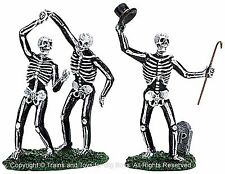 Lemax 72377 DANCING SKELETONS Spooky Town Set of 3 Figurines Halloween Decor I