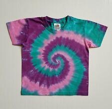 1-2y Kids Baby Tie Dye T-shirt Top Unique Surf Summer Purple Pink Gift Present