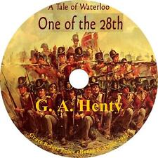 One of the 28th, Tale of Waterloo Battle Audiobook by G A Henty on 1 MP3 CD