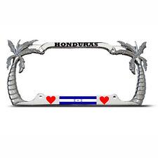 HONDURAS PALM TREE TROPICAL License Plate COUNTRY FLAG AUTO SUV Tag Border