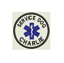 Service Dog Patch Custom Embroidered with your dog Name