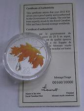 2012 Canada 9999 Silver $20 Dollars Maple Leaf CRYSTAL RAINDROP Proof COA#160