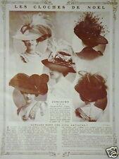 LES CHAPEAUX CLOCHES DE NOËL 1907 CONCOURS QUELLES SONT CES CINQ ARTISTES