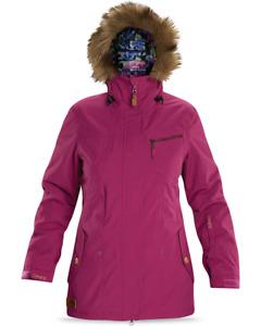 New Dakine Wren Insulated Snowboard Jacket Women's Medium Boysenberry
