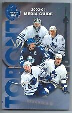 2003-04 Toronto Maple Leafs NHL Hockey Media Guide Yearbook Record Book