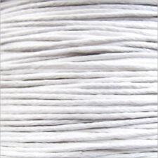 Cordón de Algodón Encerado 0,8mm – 5 M Blanco para collares y Pulseras cuentas