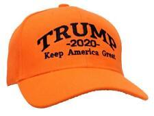 Tropic Hats Trump 2020 Keep America Great Cap #940 Blaze Orange W/Black Thread